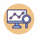 analytics, forecast, predict, prediction, research, trend, trending icon