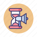 campaign, campaign period, campaign timing, timing icon