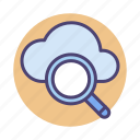 cloud, cloud search, search icon