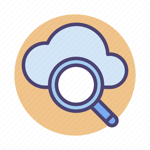 cloud, cloud search, search icon