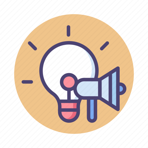 Advertising, campaigns, creative, creative campaign, idea, light bulb icon - Download on Iconfinder
