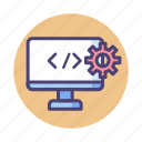 coding, custom, programming icon