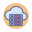 cloud, database, hosting, server, services