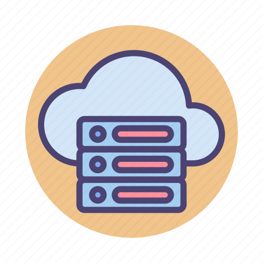 cloud, database, hosting, server, services icon