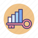 chart, graph, keywords, rankings icon