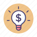 business idea, idea, marketing, marketing idea, money idea icon