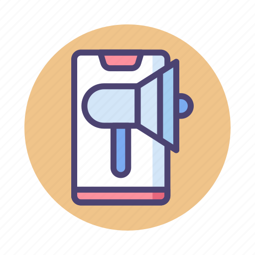 marketing, mobile, mobile ad, mobile advertising, mobile marketing icon