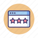 page, page quality, quality, rating, review, stars icon