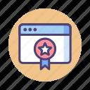 award, badge, page, rank