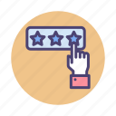 factor, rank, ranking, rate, review icon