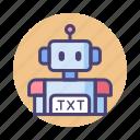robot, robot txt, txt icon