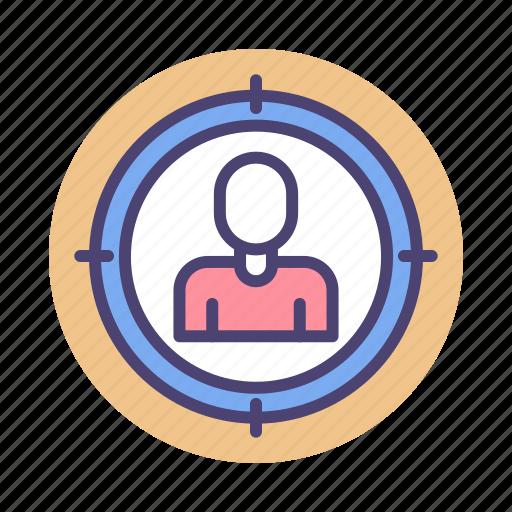 audience, target, target audience, target market icon