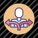 flow, user behavior, user behaviour, user flow, users icon
