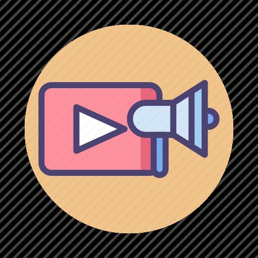 marketing, video, video ad, video advertsing, video marketing, viral marketing icon