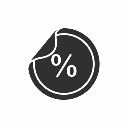 cut off, discount, price, sale icon