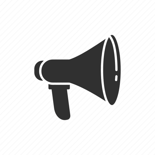 announcement, megaphone, message, talk icon