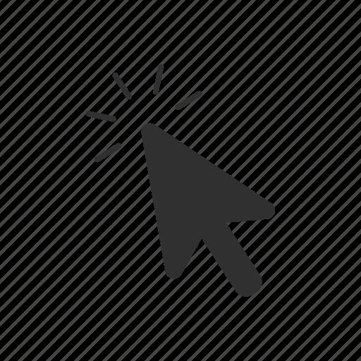 arrow, click, point, tap icon