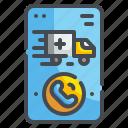 ambulance, call, emergency, hospital, phone, smartphone, truck