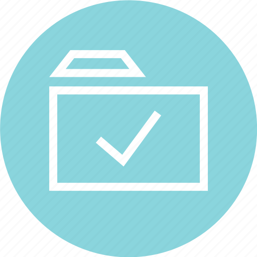 archive, arrow, check, folder, mark, menu icon