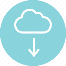cloud, down, download, menu icon