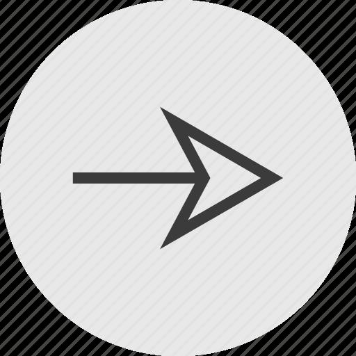 arrow, circle, forward, go, menu, right icon