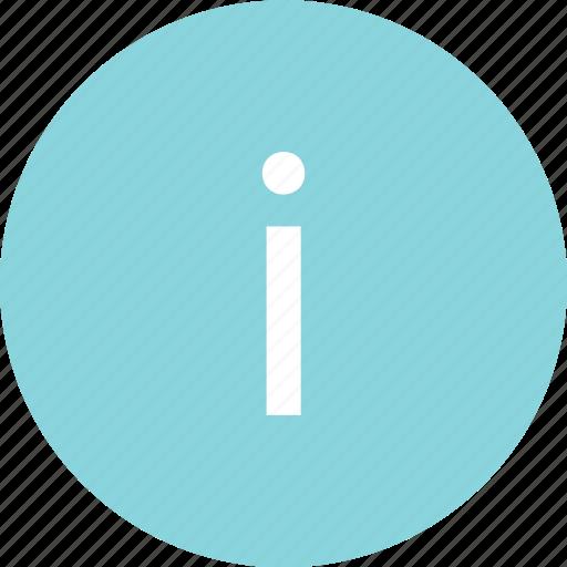 circle, i, info, information, menu, more icon