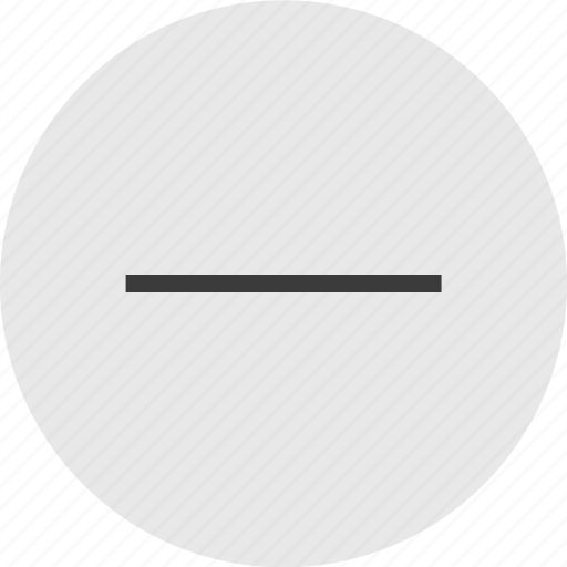 circle, menu, negative, neutral, sign icon