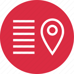 description, menu, pin, setup icon