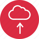 cloud, menu, save, up, upload icon