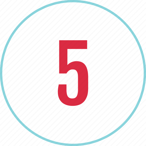 count, counting, eight, five, menu, number icon
