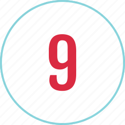 count, counting, eight, menu, nine, number icon