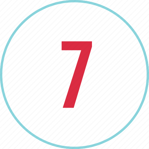 count, counting, eight, menu, number, seven icon