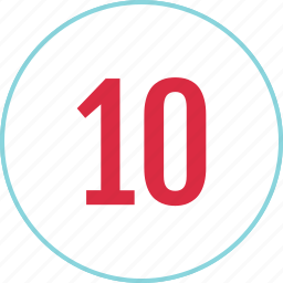 count, counting, eight, menu, number, ten icon