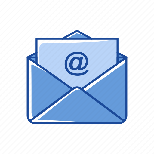 envelope, letter, mail, paper icon