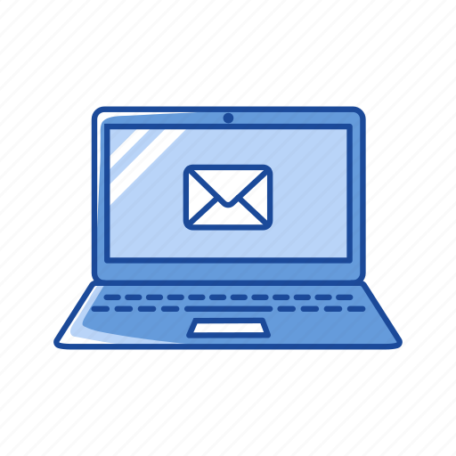 email, laptop, letter, mail icon