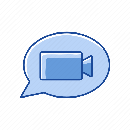 message, online, video, video call icon