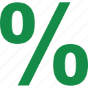 interest, online, pay, payment, percentage, rate icon