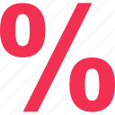 interest, percentage, rate, revenue icon