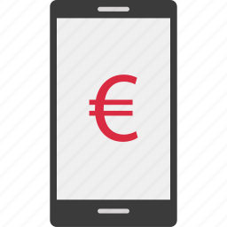 banking, eruo, mobile, online icon