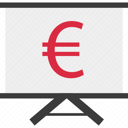 board, euro, money, online icon