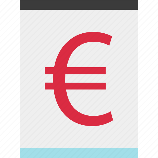 euro, online, page, sign icon