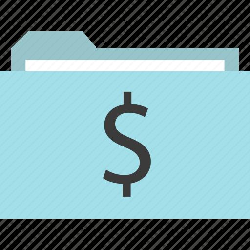 dollar, folder, online, sign icon