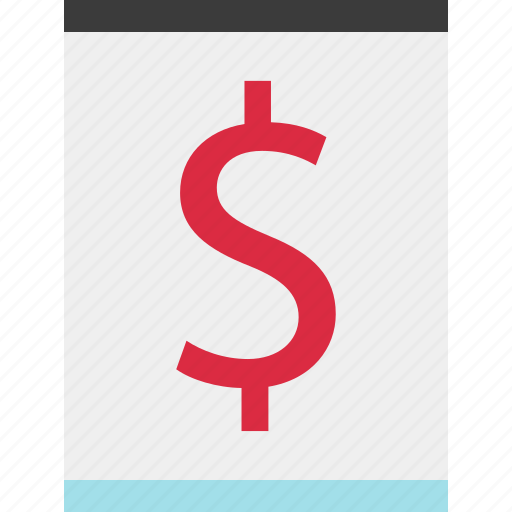 dollar, online, page, sign icon