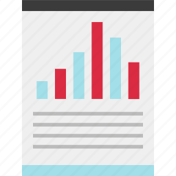 chart, online, page, results icon