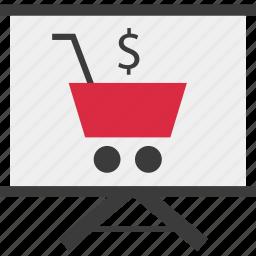 online, shopping, teach icon