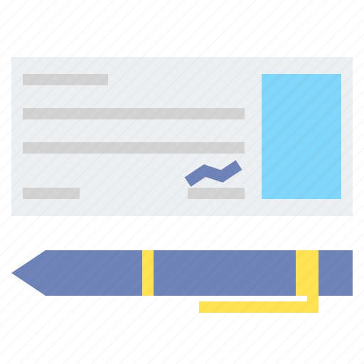 Cheque, money, payment, pen icon - Download on Iconfinder