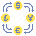 currency, exchange, foreign icon