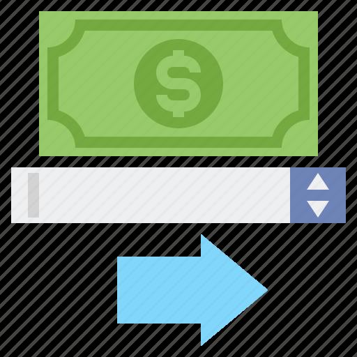 amount, money, transfer icon