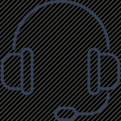 headphones, office, online, sound icon