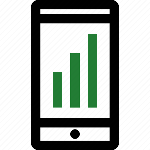 bars, cell, data, mobile, phone icon